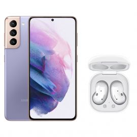 MAI-SMARTPHONE S21 VIOLET+ECOUTEURS GALAXY BUDS LIVE BLANC