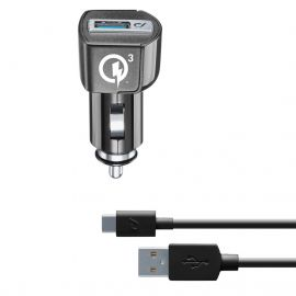 CELLULARLINE CHARG VOITURE + CABLE TYPE C