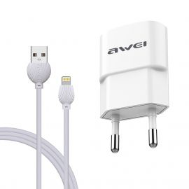 AWEI C-832 +CABLE LIGHTNING IPHONE BLANC