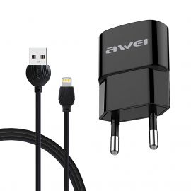 AWEI C-832 + CABLE LIGHTNING IPHONE NOIR