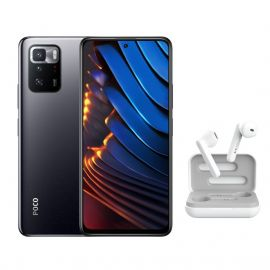 CAC SMARTPHONE POCO X3GT 8G 128G 6,6'' BLACK XIAOMI+ECOUTEURS SS FIL PRIMO TOUCH BLANC TRUST